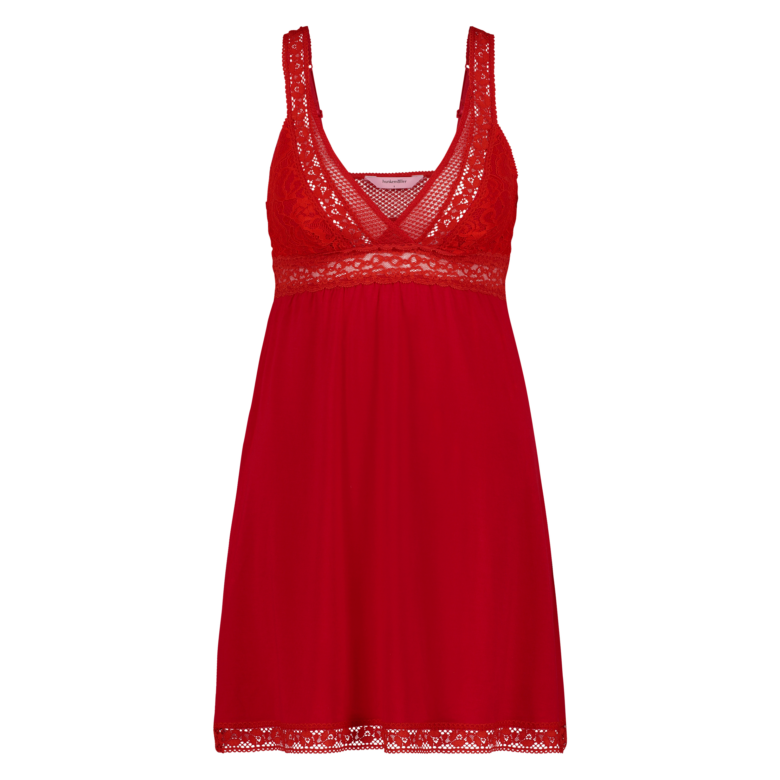 Graphic Lace slipdress, Rot, main