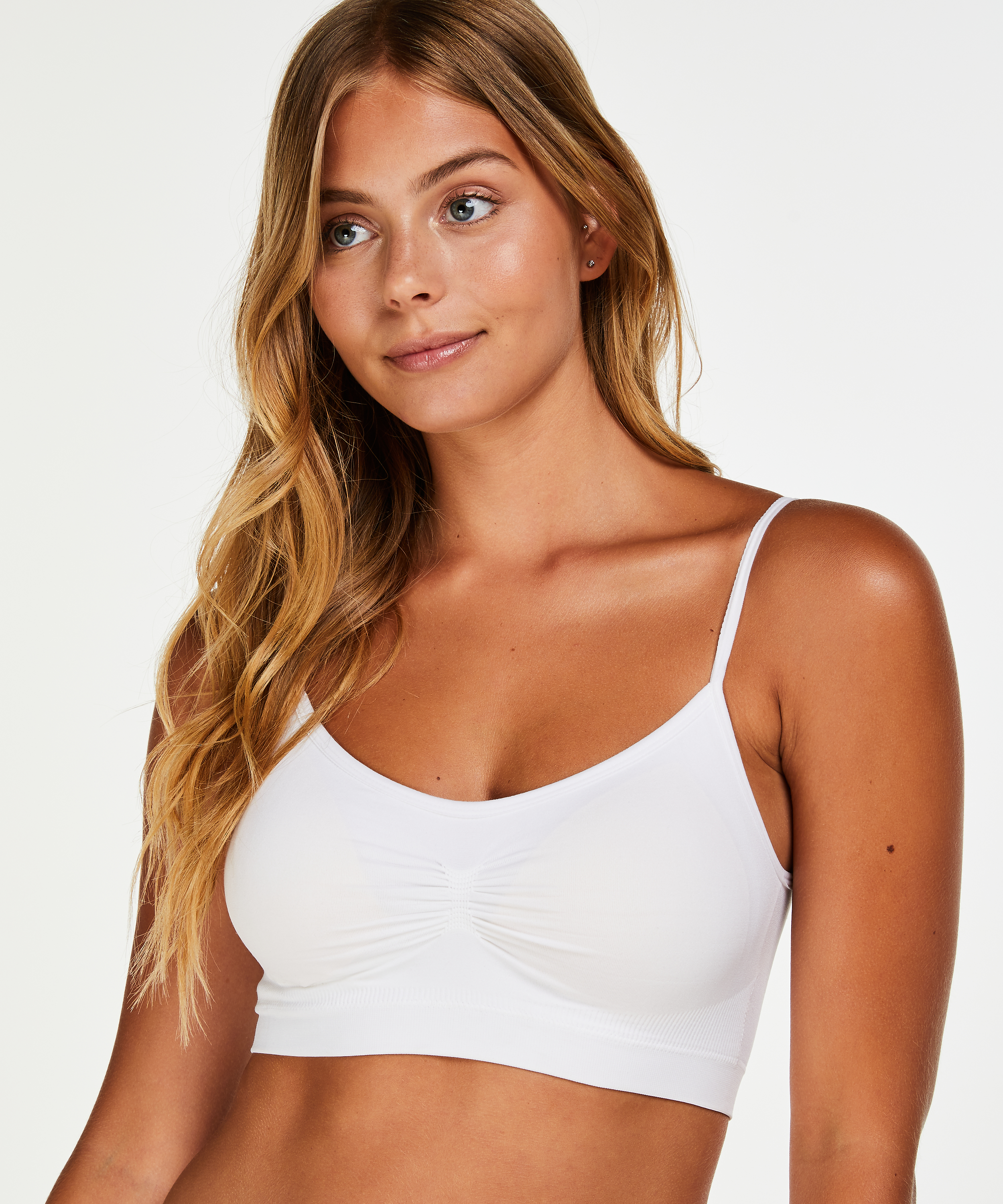 Strappy-Top, seamless, Weiß, main