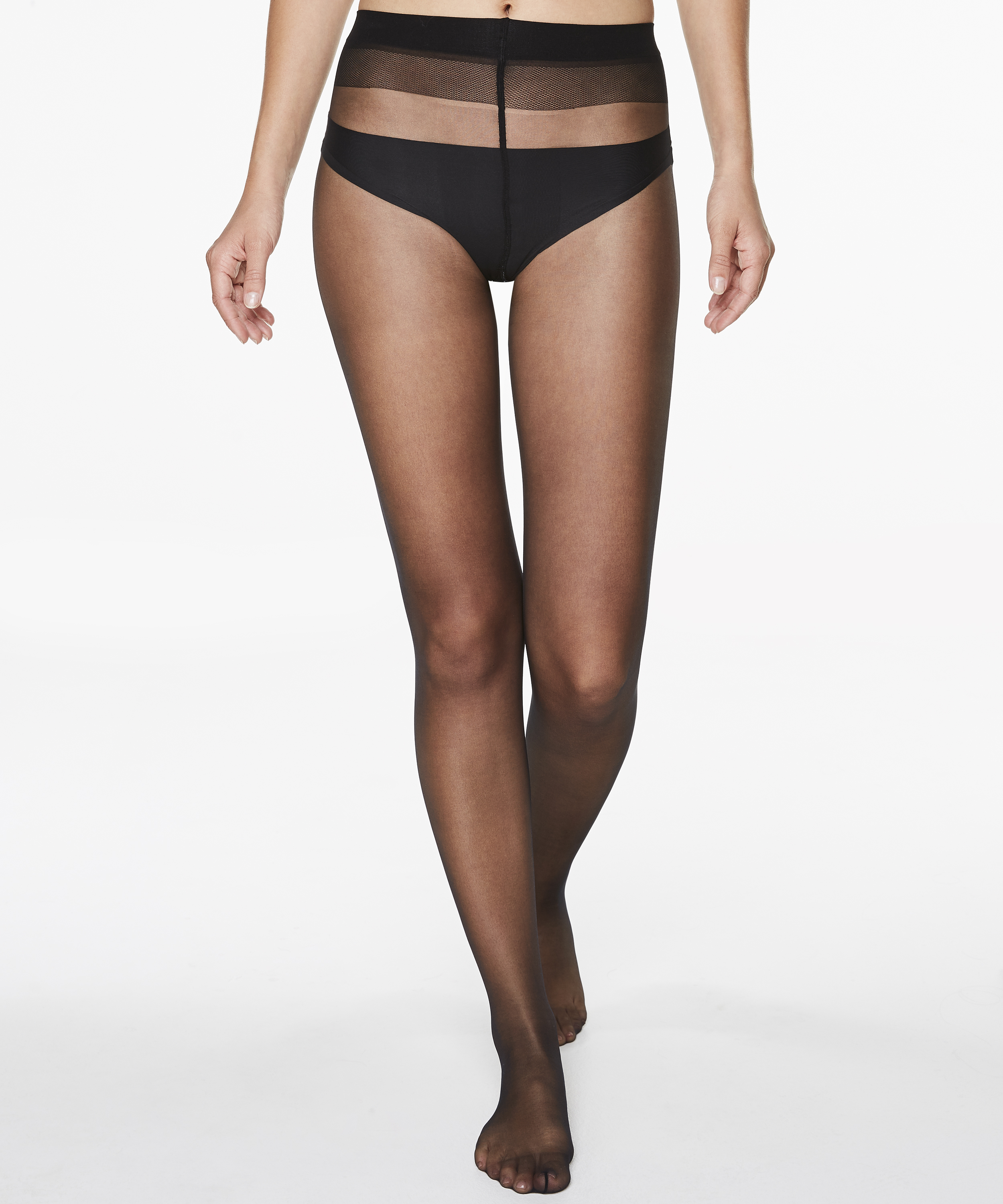 Panty 15 Denier Anti-ladder, Schwarz, main