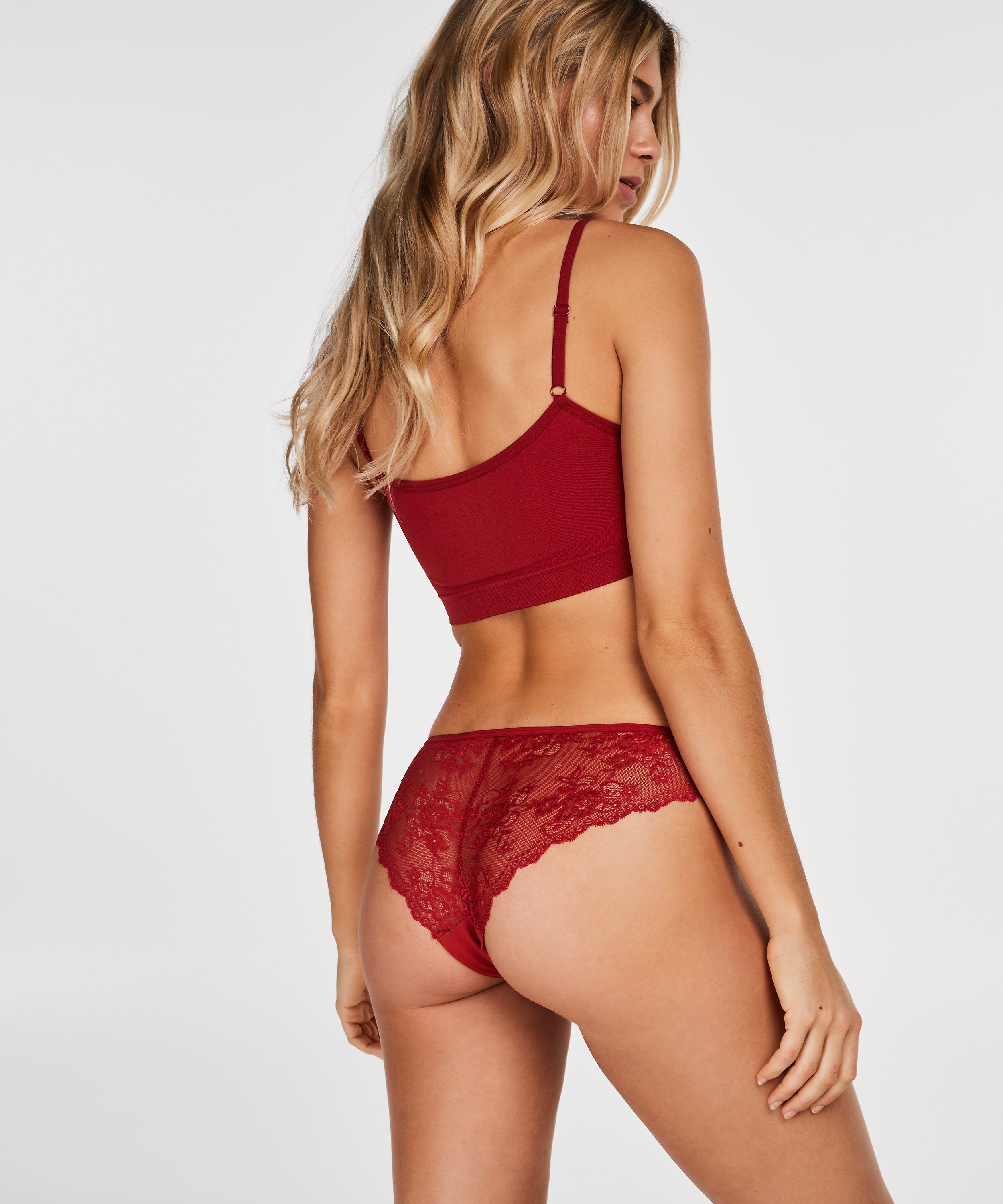 Invisible Brazilian Lace Back, Rot, main