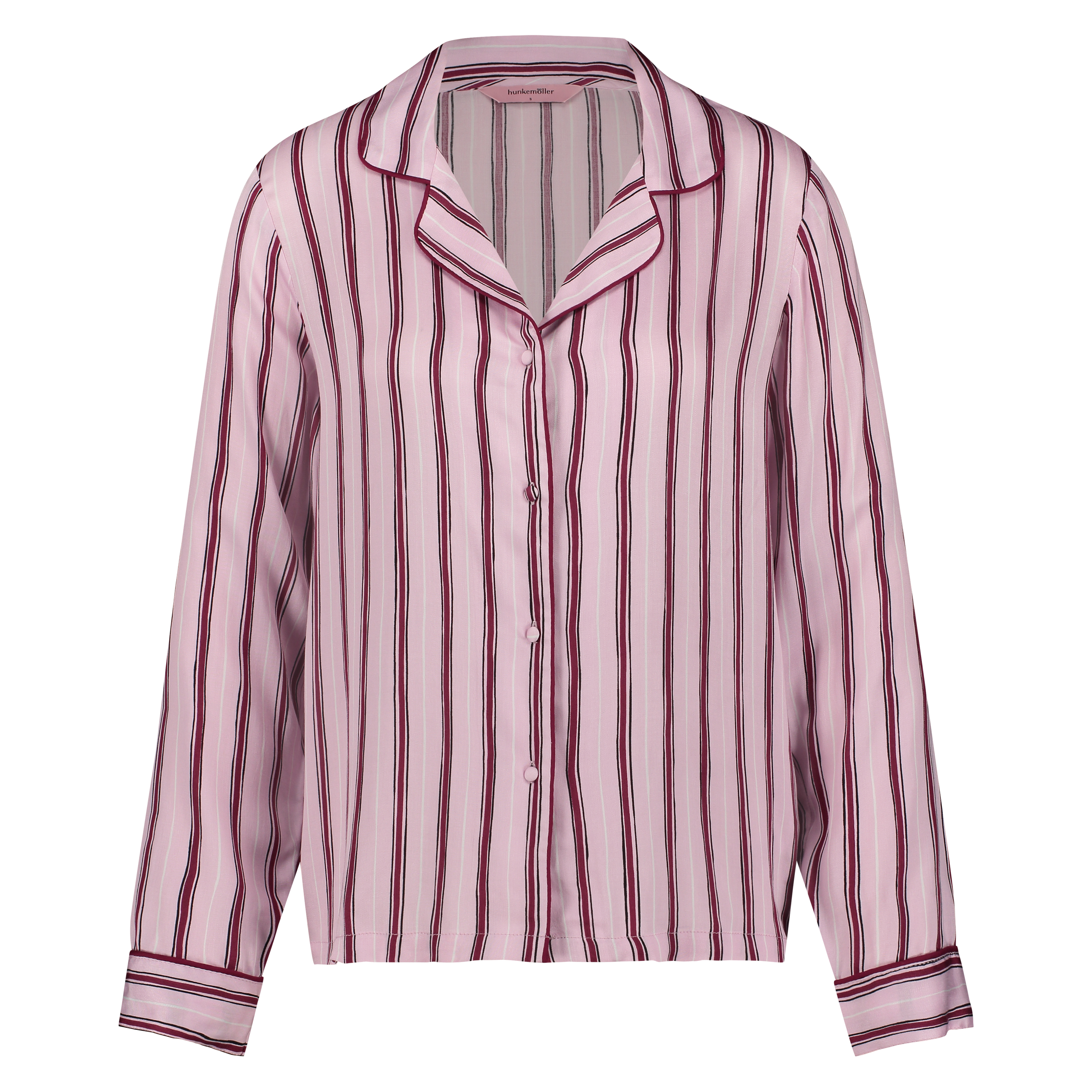 Pyjamatop Woven Striped, Rose, main