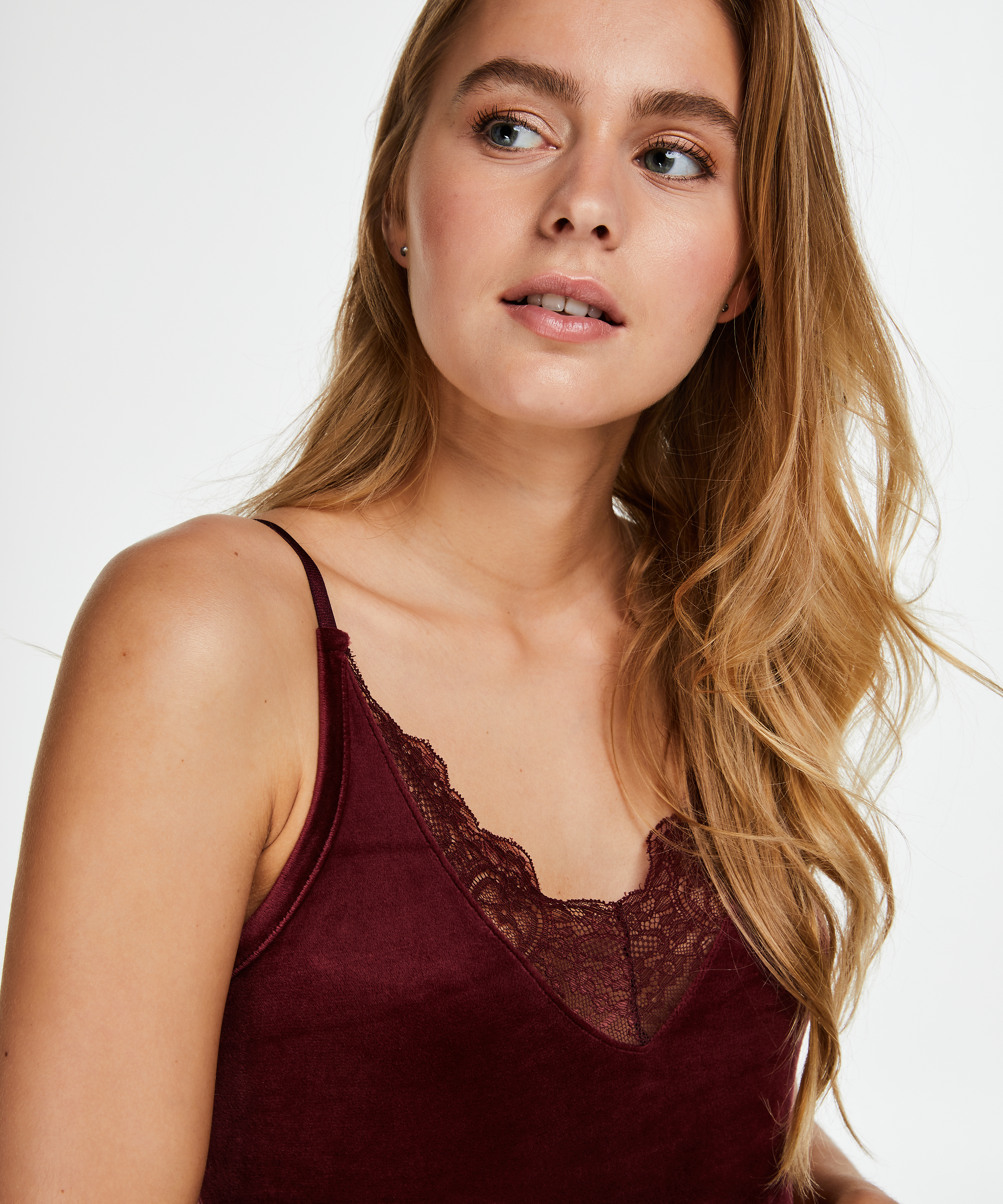 Cami Velours Lace, Rot, main