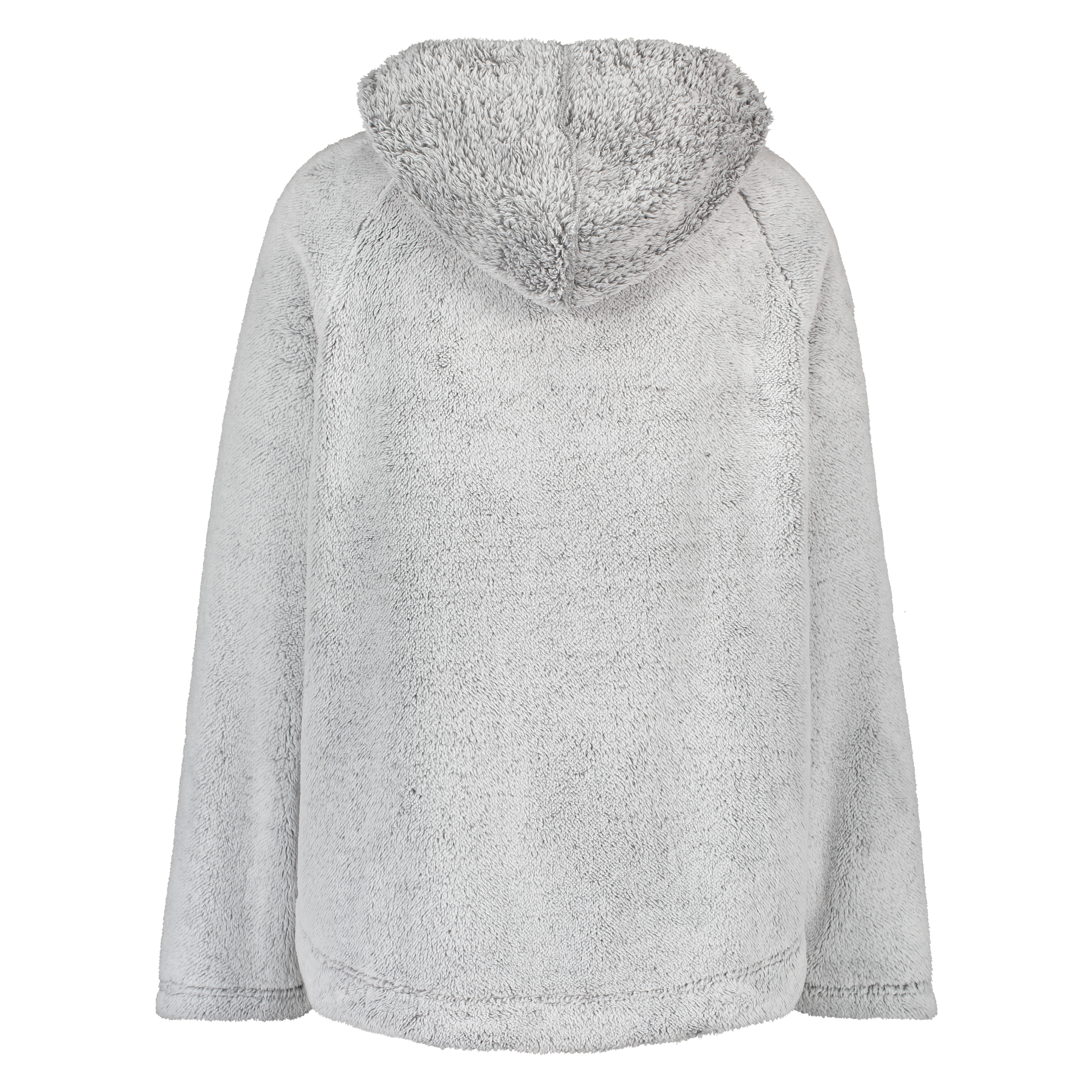 Poncho aus Fleece, Grau, main