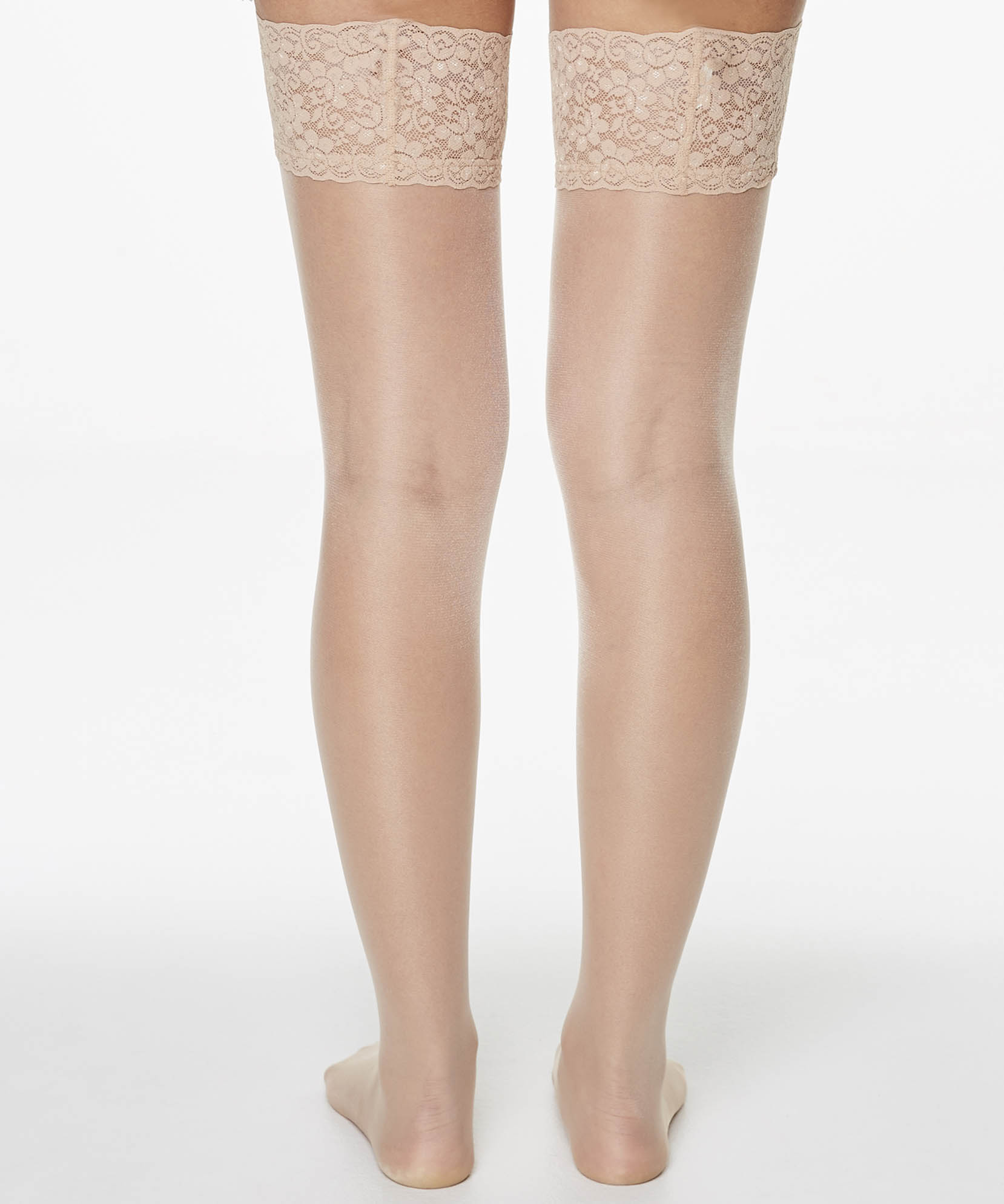 Stay-up 15 Denier Lace Anti-ladder, Teint, main