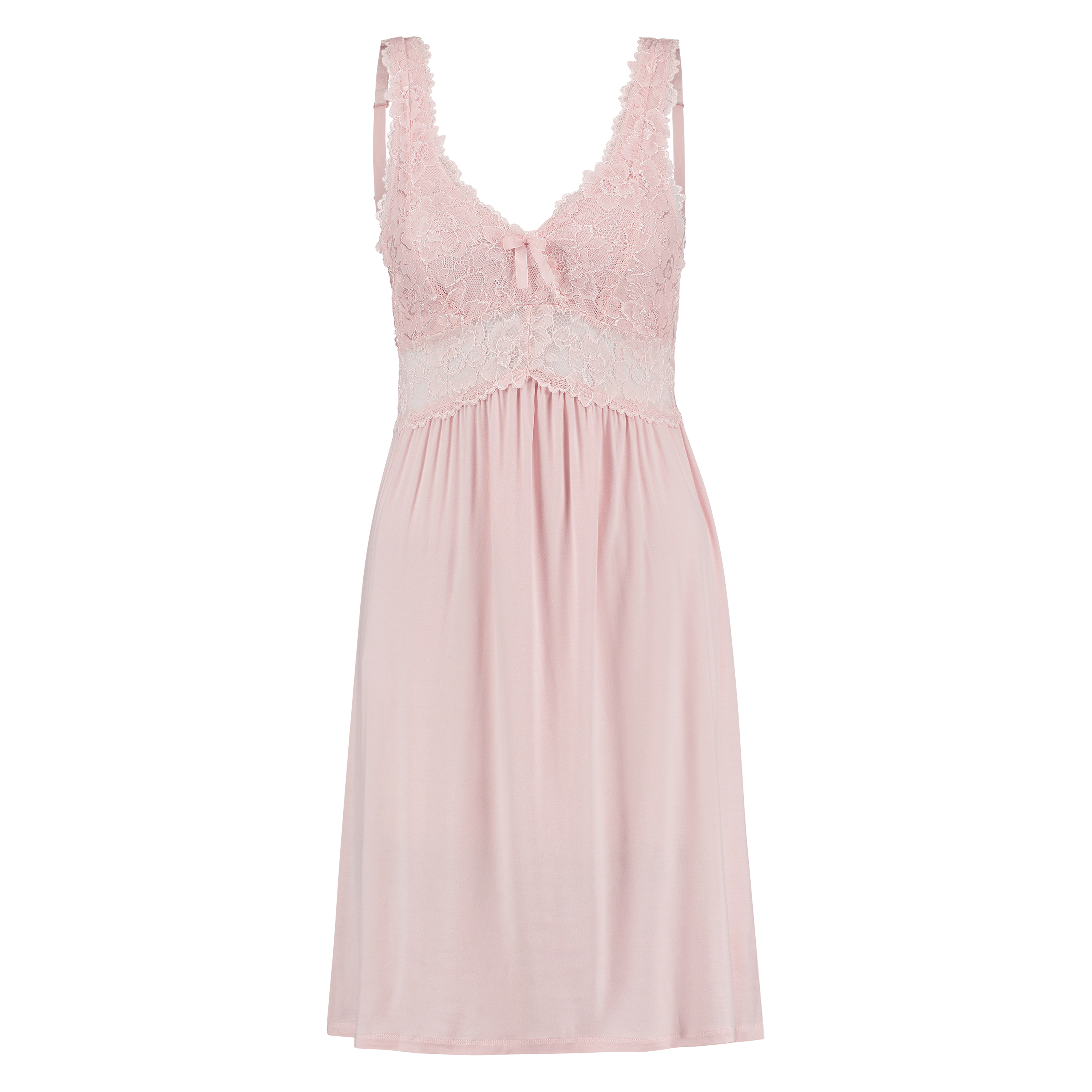 Slipdress Modal Lace, Rose, main